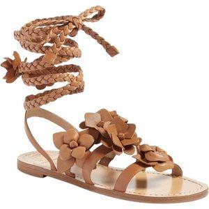 a38883b2fe37  Tory Burch  Blossom Gladiator Sandals NIB 9.5